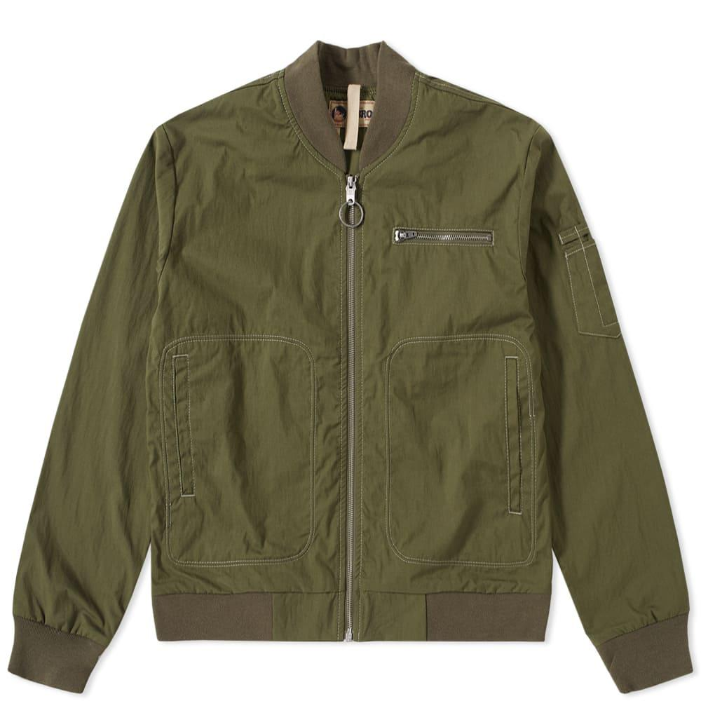 c8b098d0e43f Nigel Cabourn Lybro Rats Bomber Jacket in Green for Men - Save 21 ...