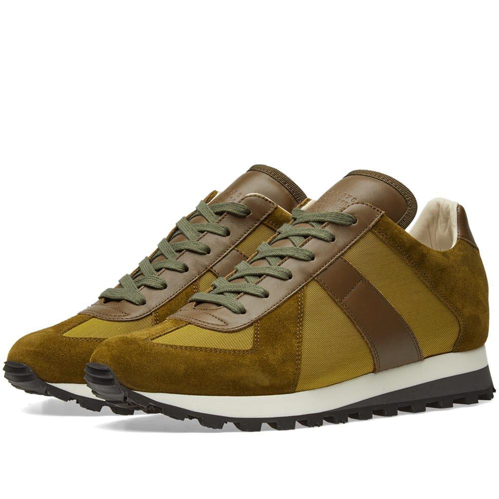 Lyst maison margiela 22 retro runner sneaker in green for Maison margiela 22