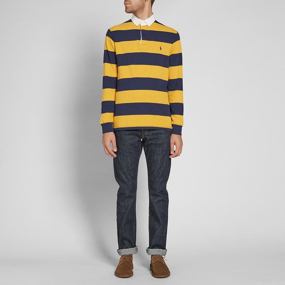 Mens Polo Ralph Lauren Rugby Shirt Blue