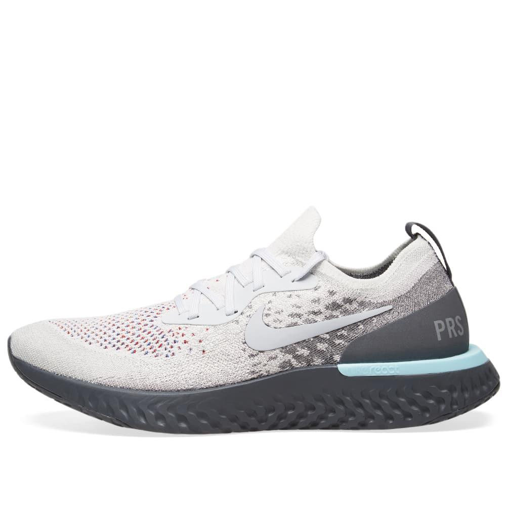 more photos df142 90c9f Nike - Gray Epic React Flyknit  paris  for Men - Lyst. View fullscreen