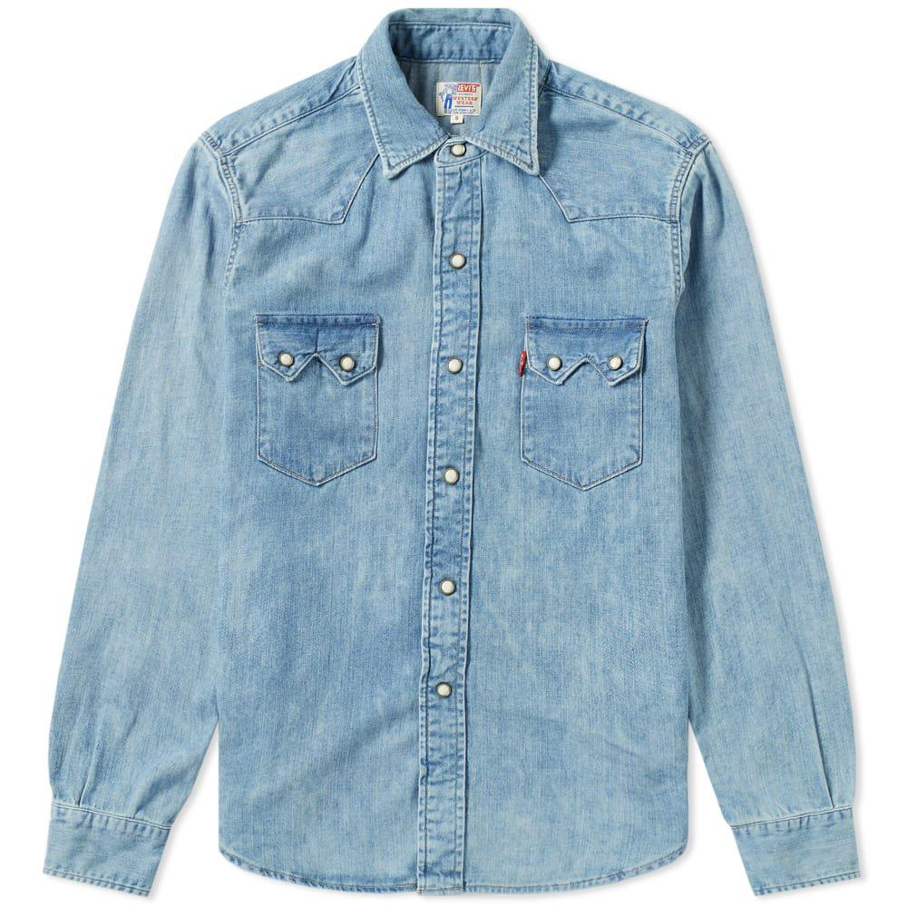 bdeb90090d Lyst - Levi s Levi s Vintage Clothing 1955 Sawtooth Shirt in Blue ...