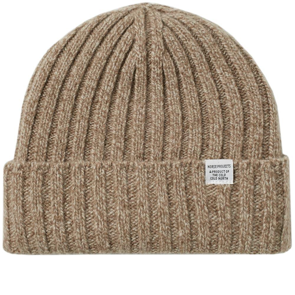 66528a40519 Norse Projects Wide Rib Beanie in Brown for Men - Lyst
