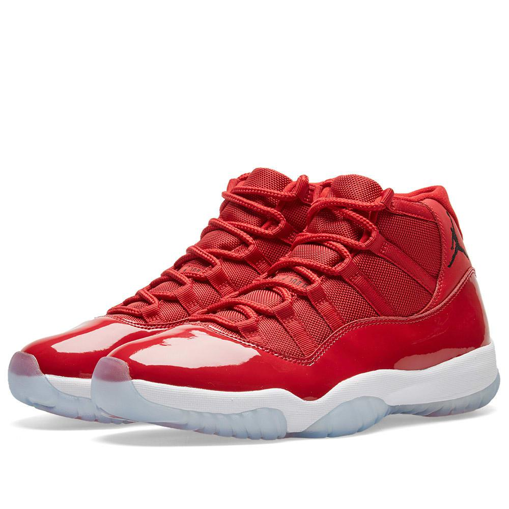 ab0d36fbb61252 Lyst - Nike Nike Air Jordan 11 Retro  win Like 96  in Red for Men