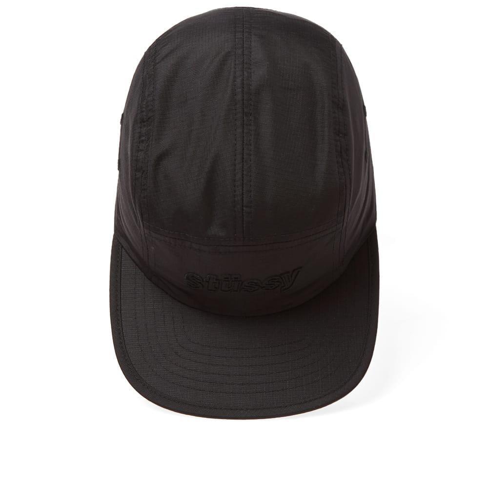 9520fe7d213 Stussy Micro Ripstop Camp Cap in Black for Men - Lyst