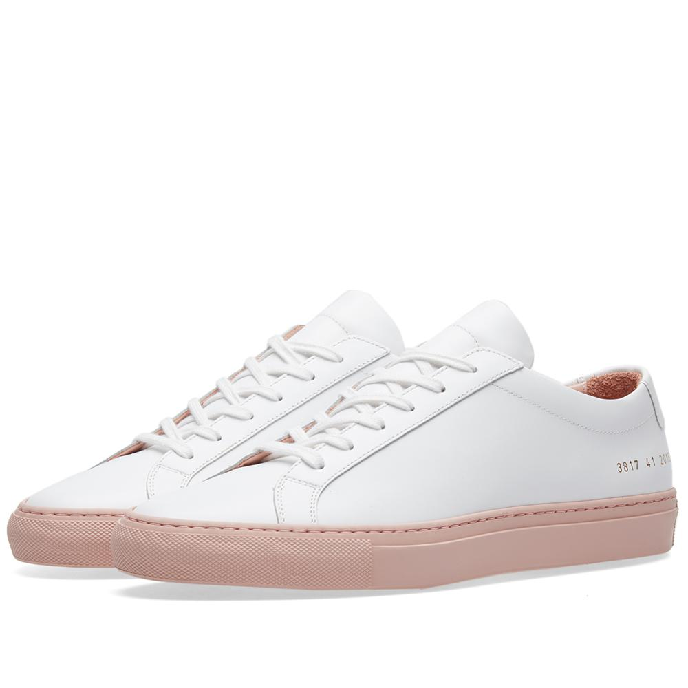 Common Projects Achilles Low Coloured Sole in White for Men - Lyst