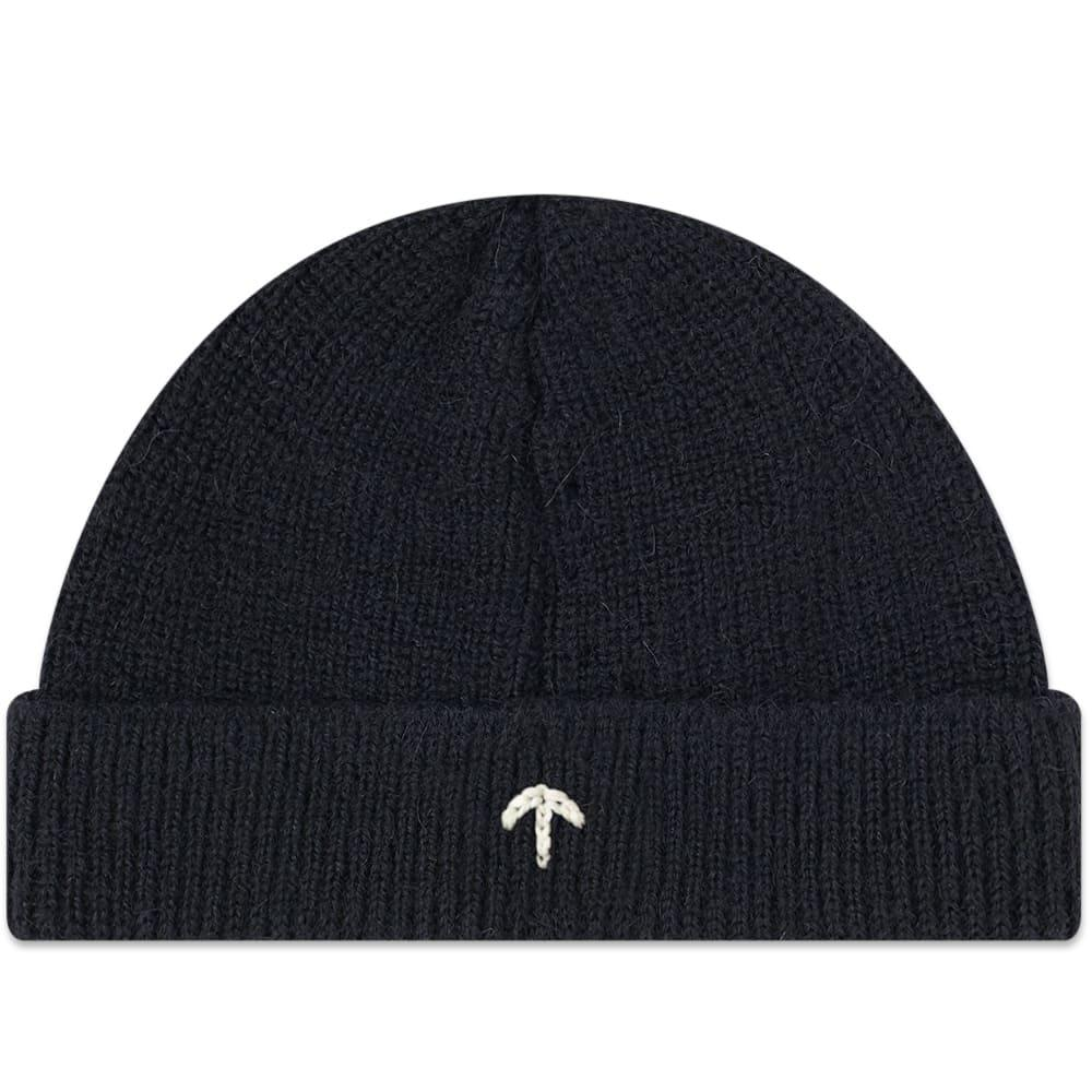 c8a05cd401b Nigel Cabourn Embroidered Broad Arrow Beanie in Black for Men - Lyst