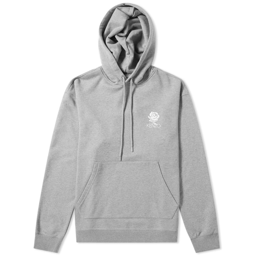 6a435cbd Lyst - KENZO Rose Logo Hoody in Gray for Men