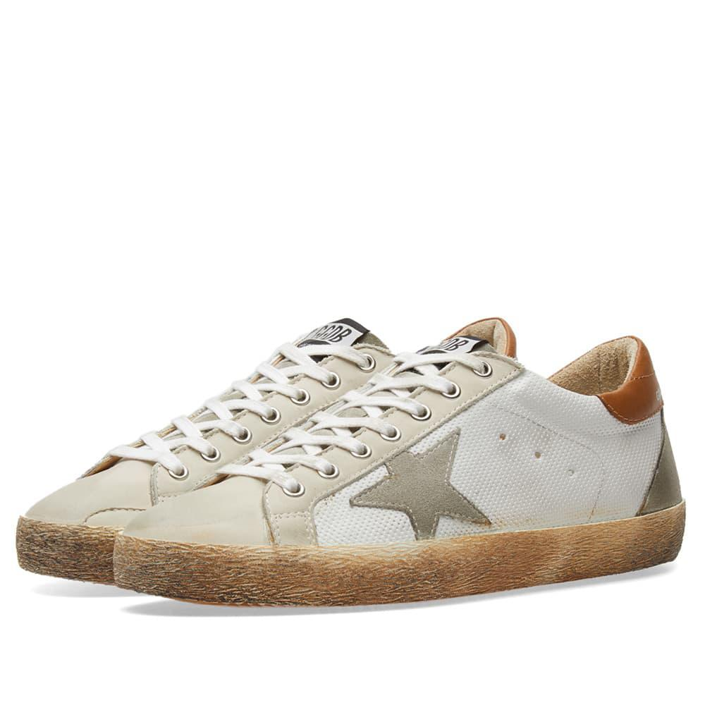 lyst golden goose deluxe brand superstar mesh sneaker in white for men. Black Bedroom Furniture Sets. Home Design Ideas