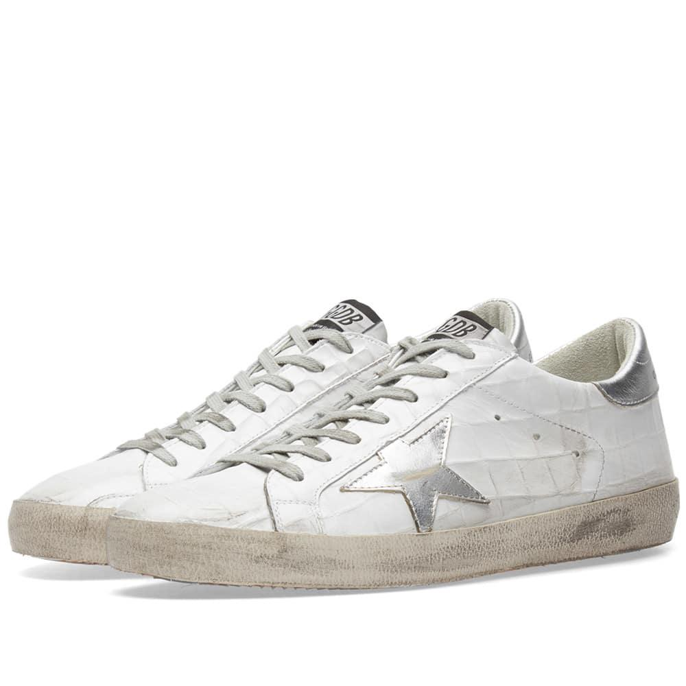 lyst golden goose deluxe brand superstar leather sneaker in white for men. Black Bedroom Furniture Sets. Home Design Ideas