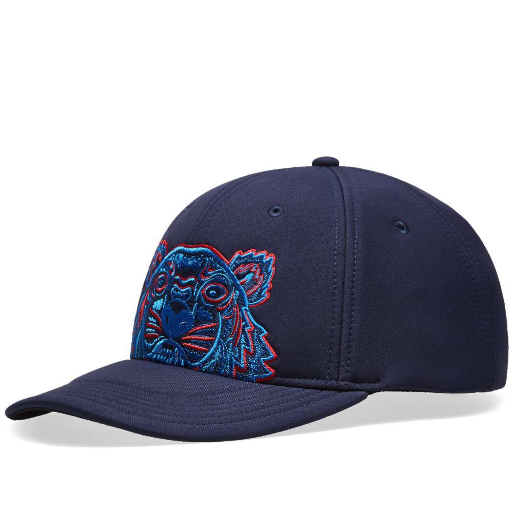 7d84eed2d0fb4 KENZO Neoprene Tiger Cap in Blue for Men - Lyst