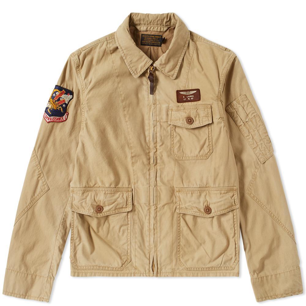 Lyst Polo Ralph Lauren Vintage Us Flight Jacket In Brown For Men