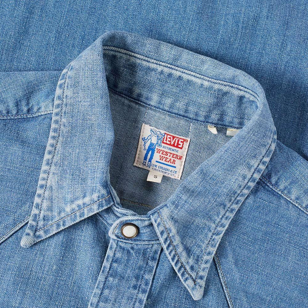 1aee6ac0 Levis Denim Shirt Slim Fit Sawtooth Western Cloudy Mid Wash | Top ...