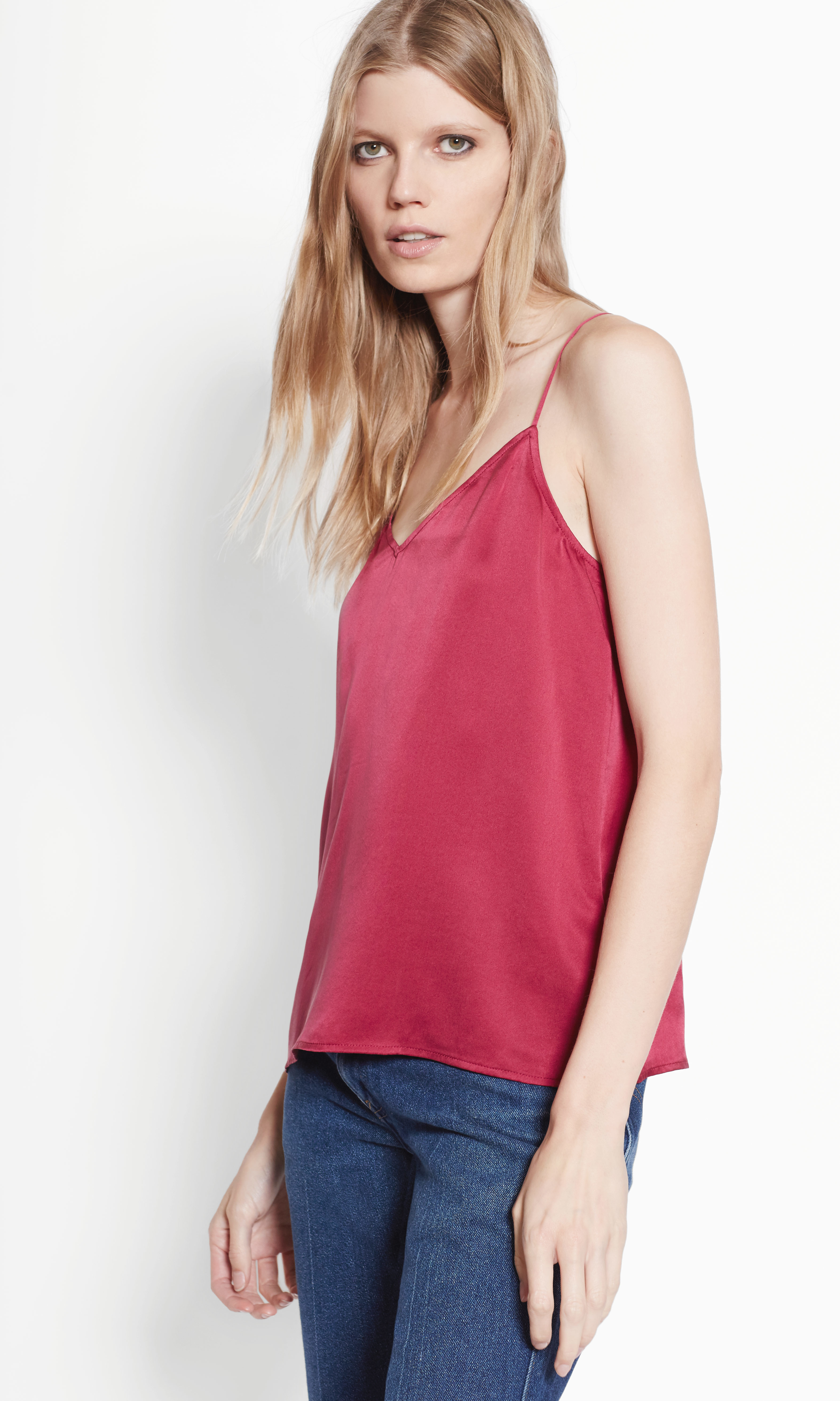 Equipment Layla Satin Cami In Pink Lyst