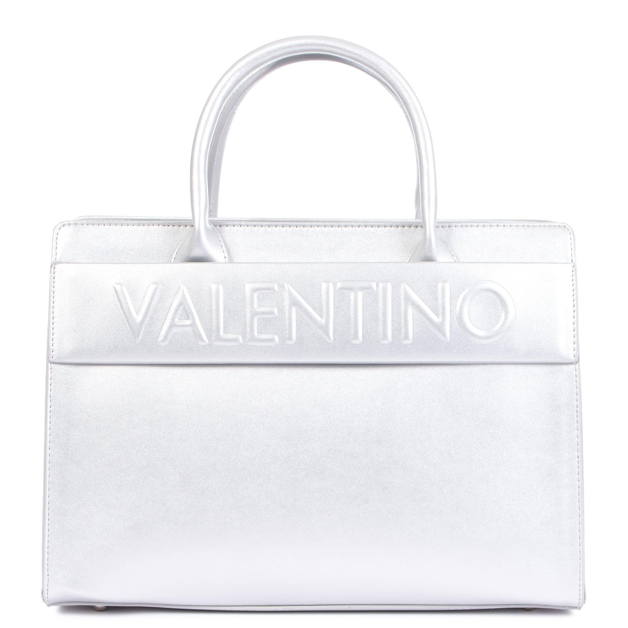 1a31de7ee Valentino Egeo Embossed Tote In Silver in Metallic - Lyst
