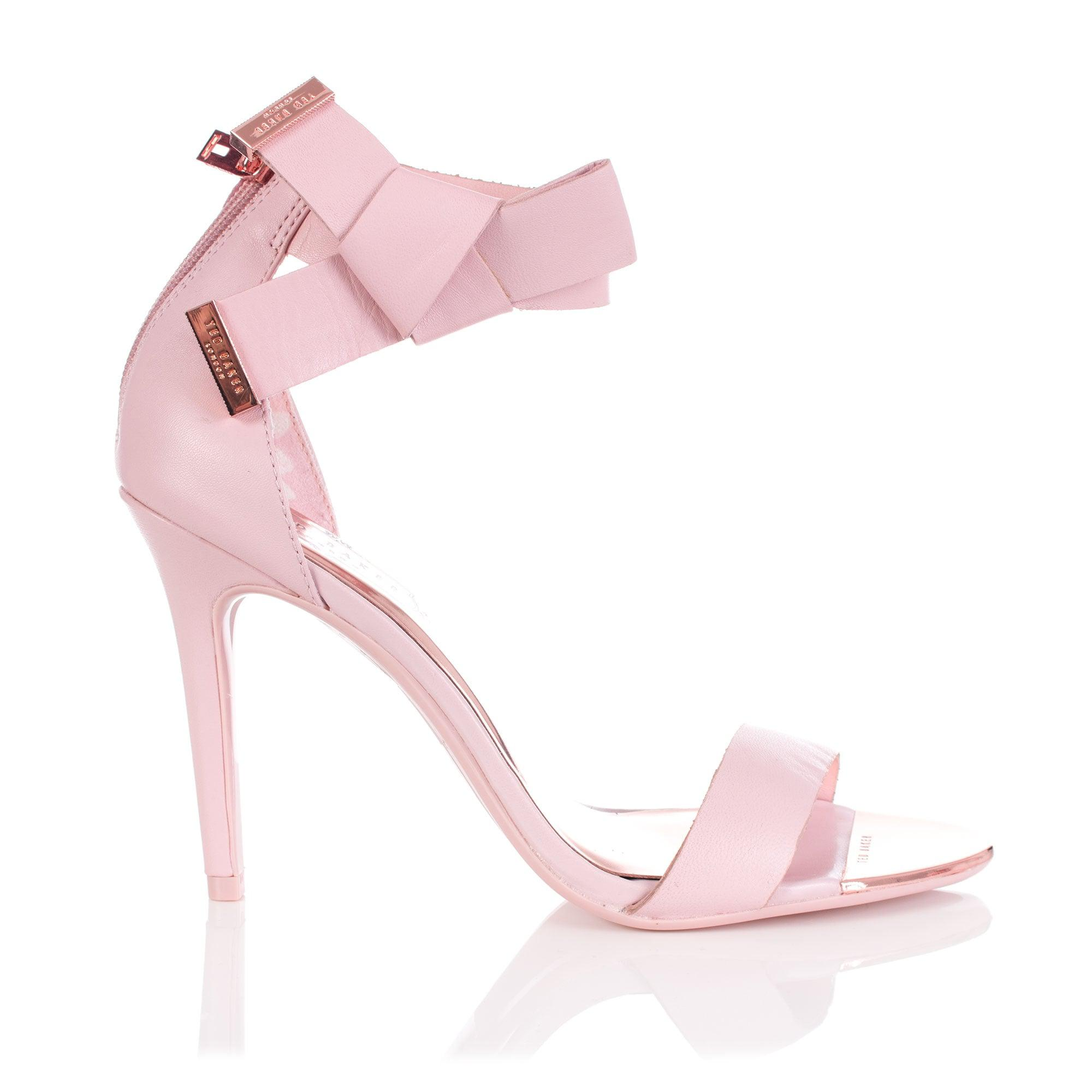 53cdac2ab52 Ted Baker Saphrun Knotted Bow Leather Sandal in Pink - Lyst