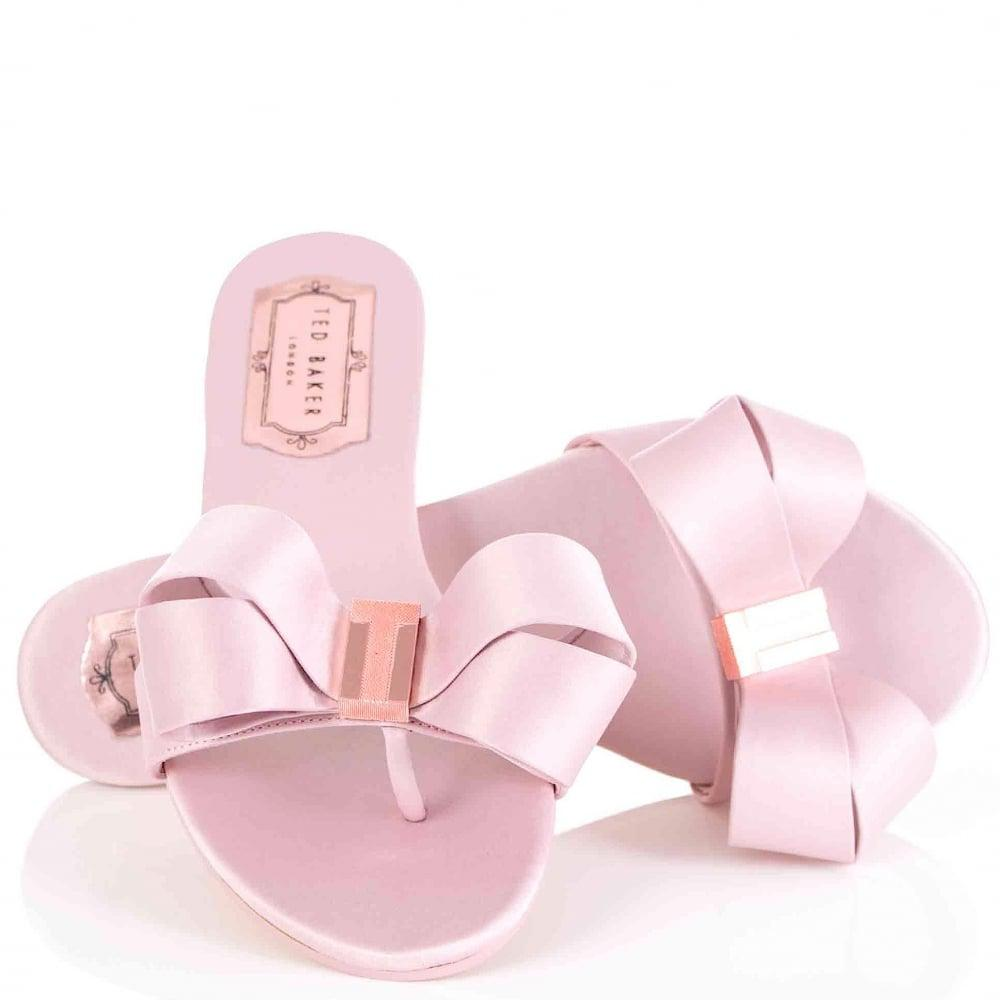 e545cf9cb71f Ted Baker Beauita Bow Slides in Pink - Lyst