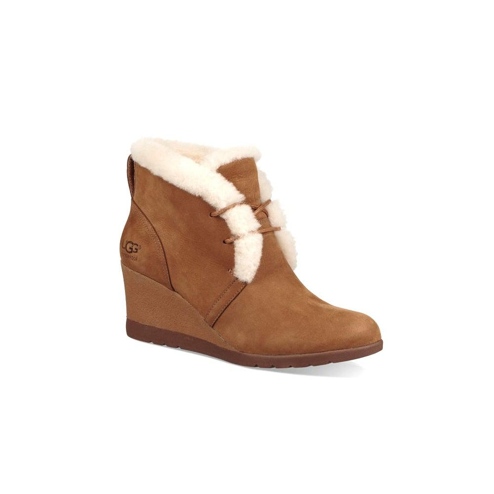 c0fcaf12e80b UGG Jeovana Wedge Boot in Brown - Lyst