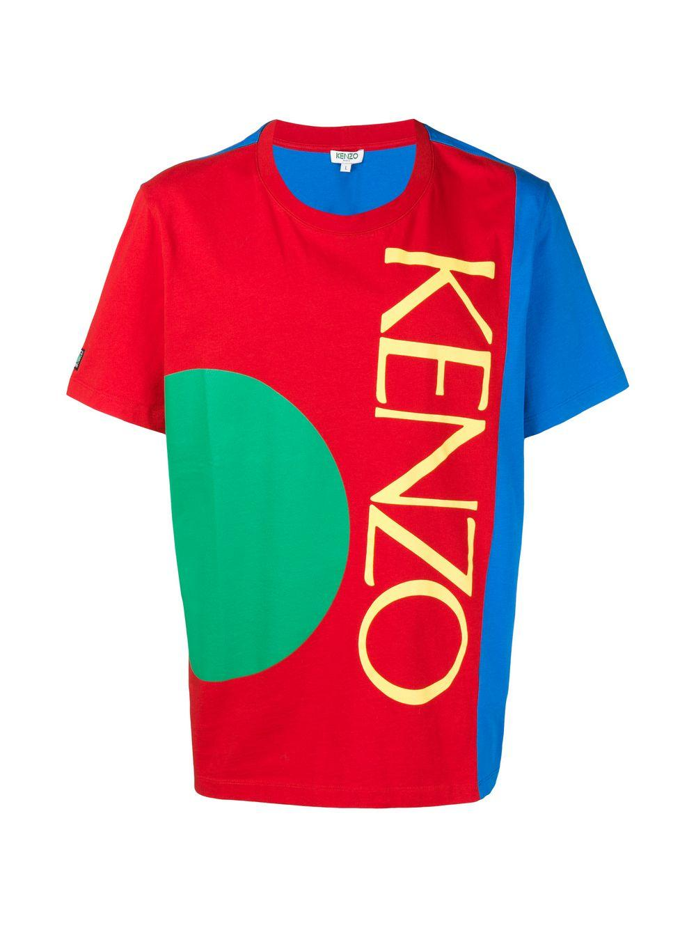 1e481f428 Lyst - KENZO Logo Colour-block T-shirt in Red for Men - Save 23%