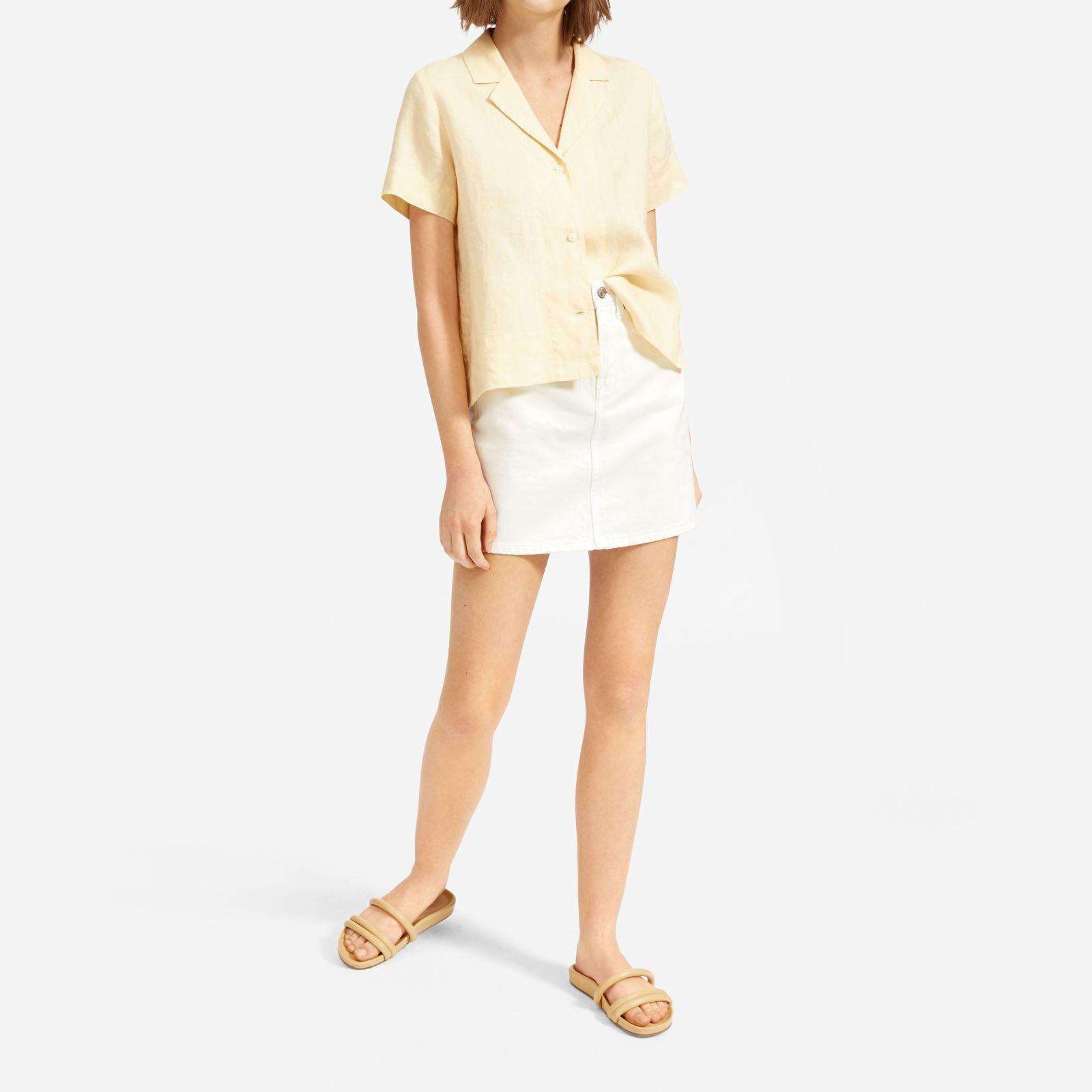 50ac6605ed141d ... The Linen Notch Short-sleeve Shirt - Lyst · Visit Everlane. Tap to  visit site