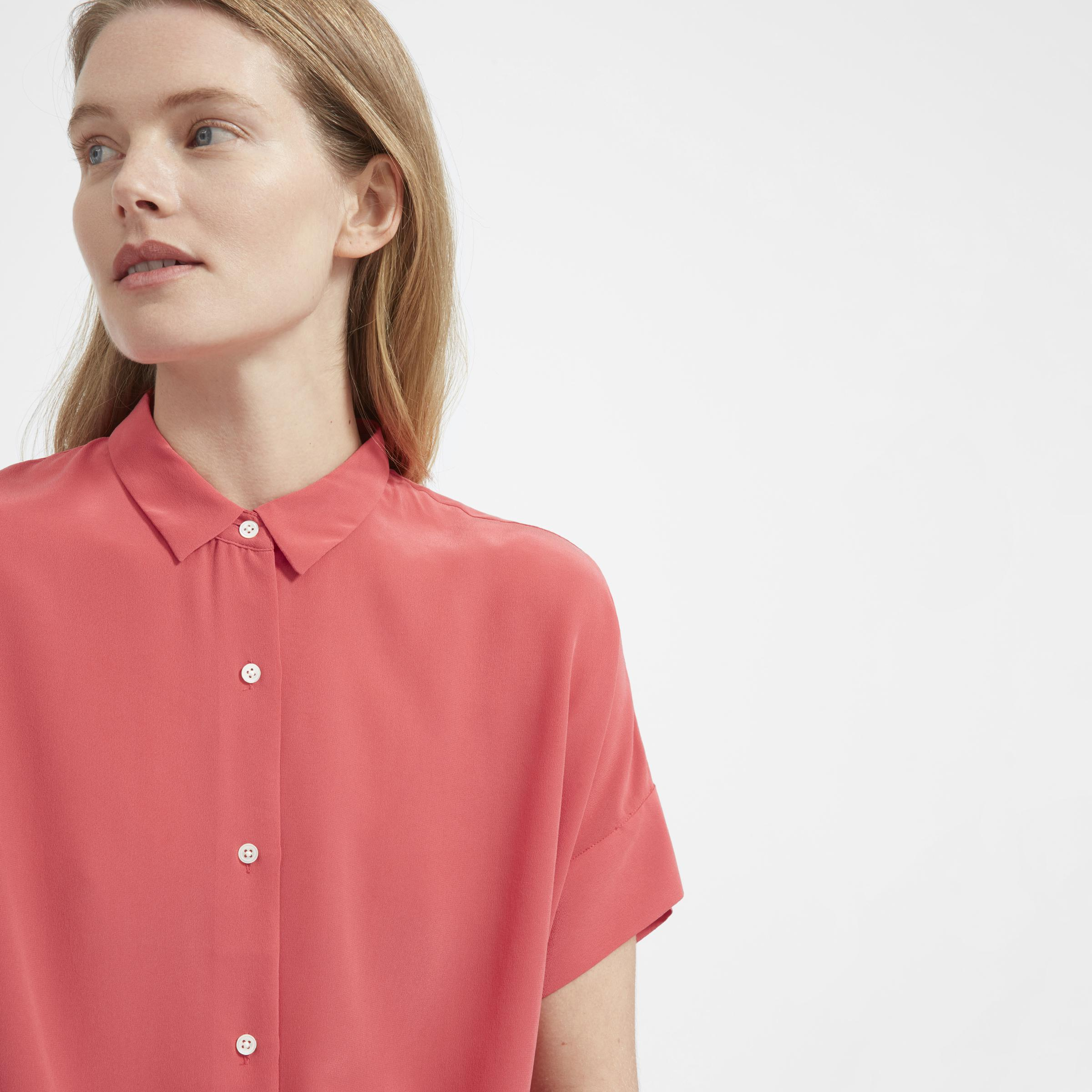 737df95794896 Lyst - Everlane The Silk Square Shirt
