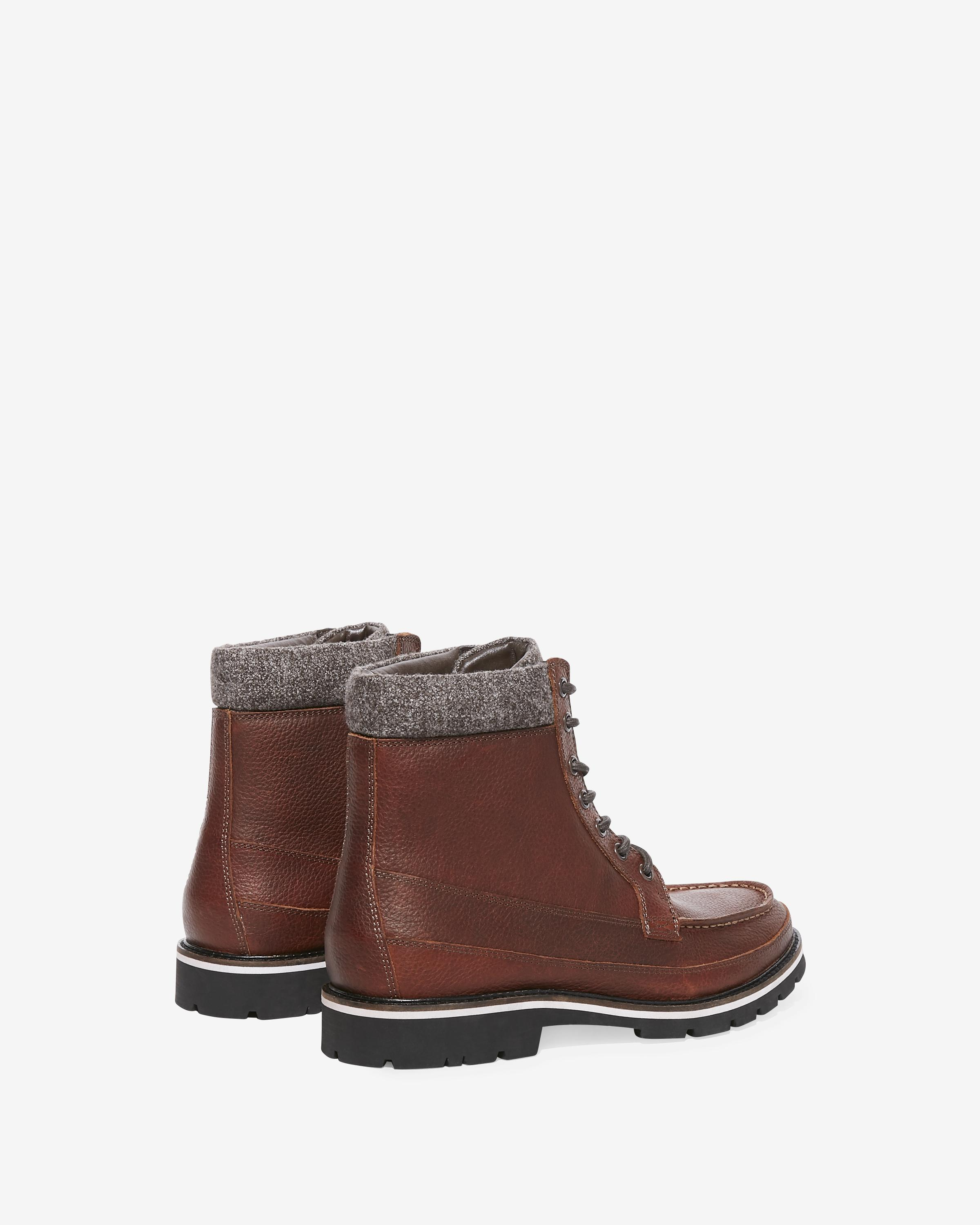d373dbe6c73 Express Wool Cuff Lace-up Boots Brown in Brown for Men - Lyst