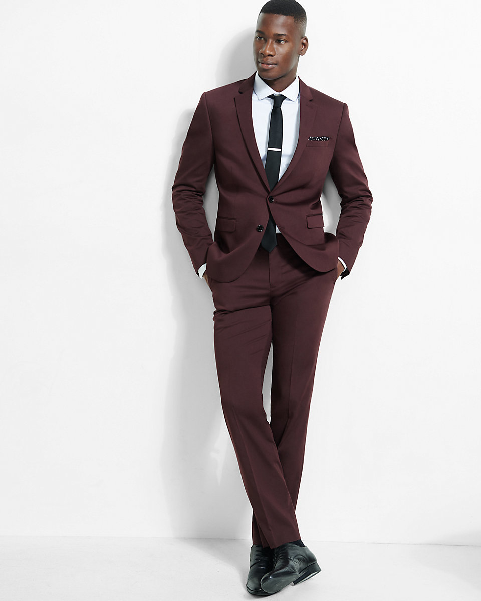 Grey Suit Pants With Brown Shoes