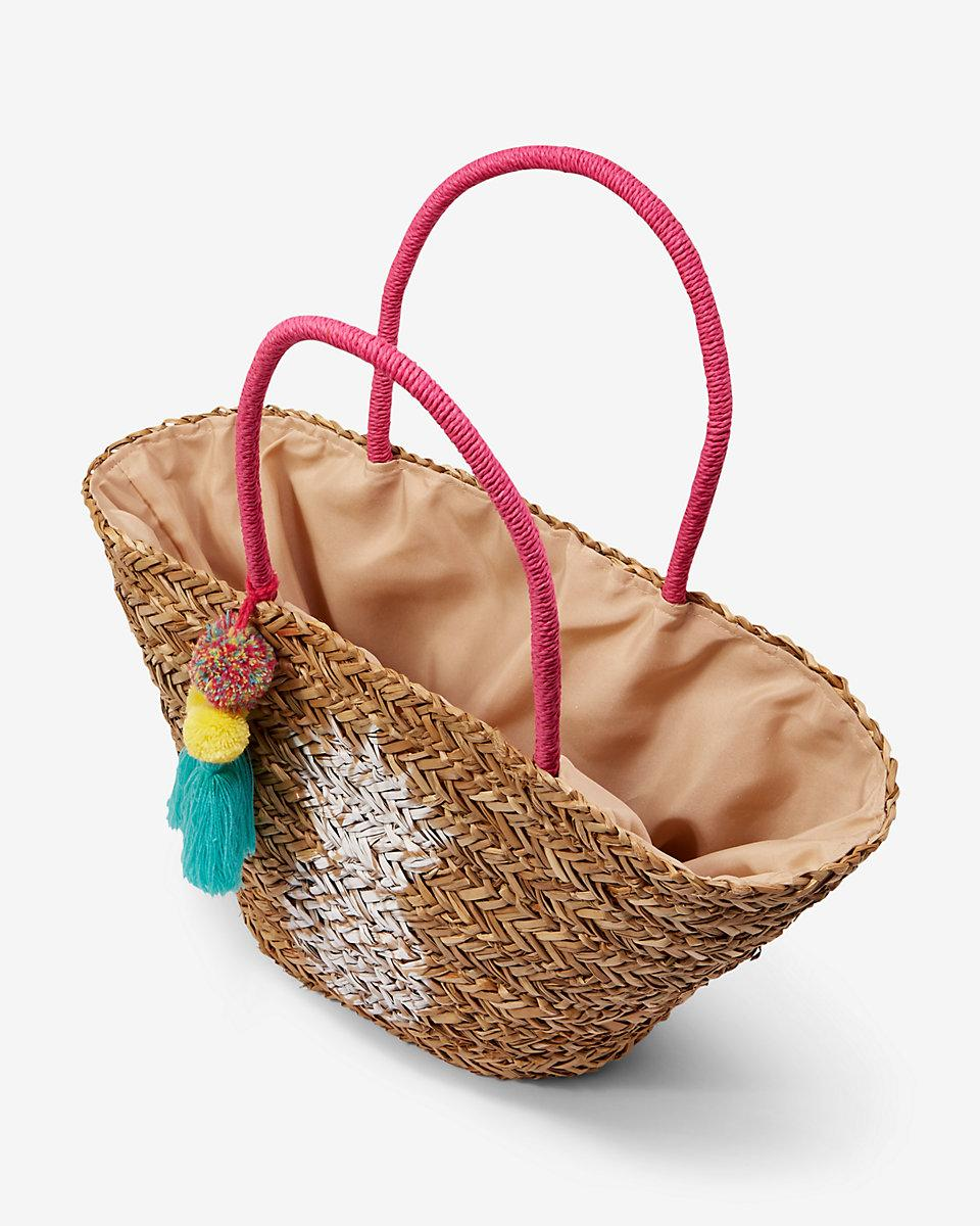 Lyst Express Pineapple Straw Tote