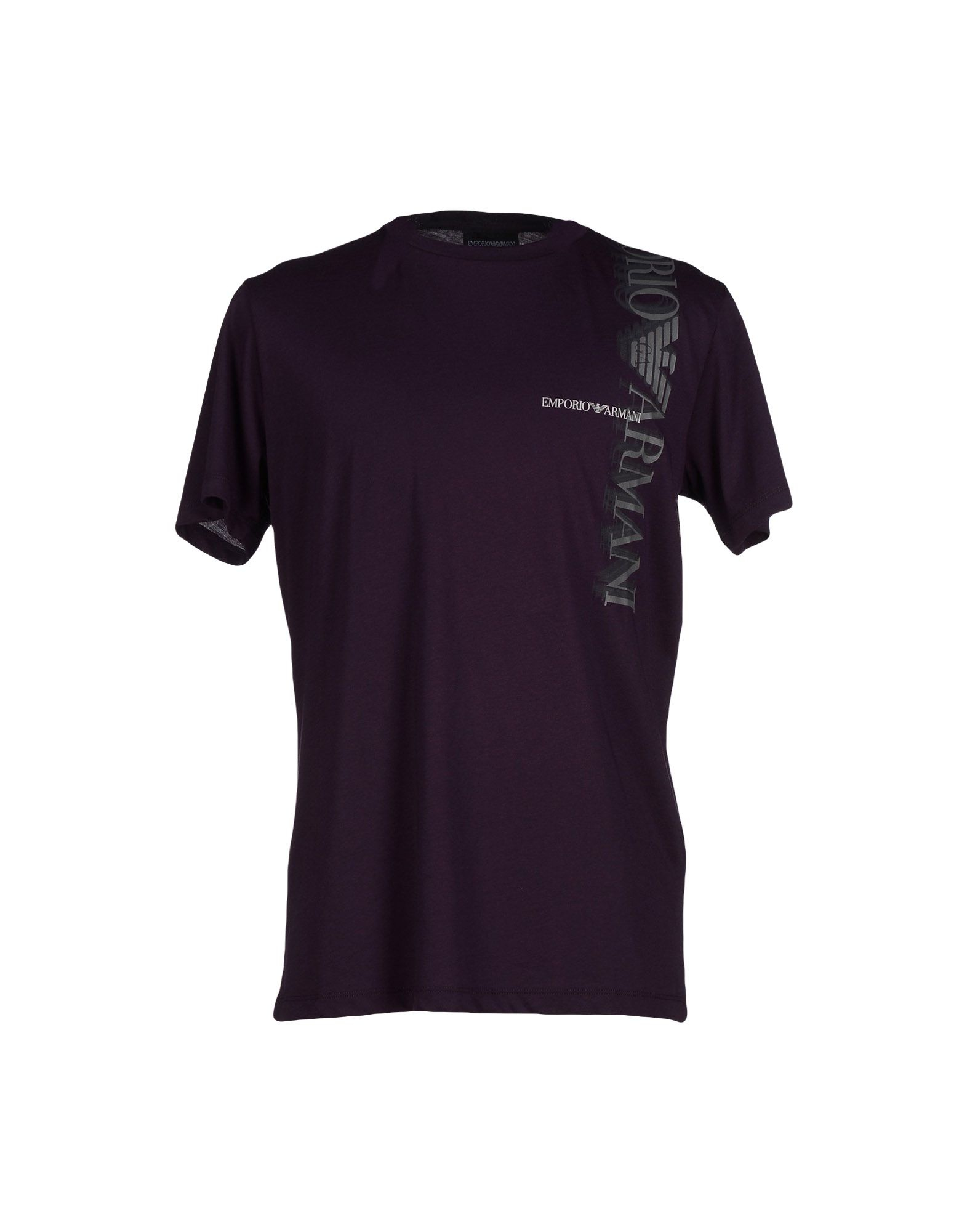 emporio armani t shirt in purple for men lyst. Black Bedroom Furniture Sets. Home Design Ideas