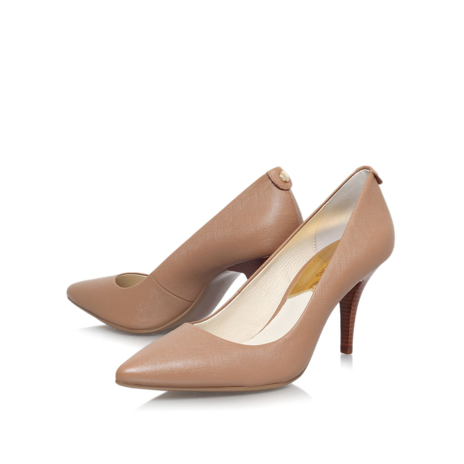 Taupe Kitten Heel Shoes | Tsaa Heel
