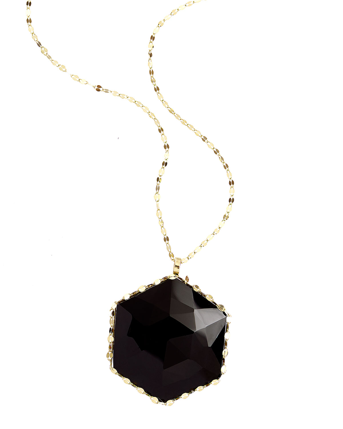 Lyst lana jewelry dusk 14k gold necklace with rose cut onyx gallery aloadofball Images