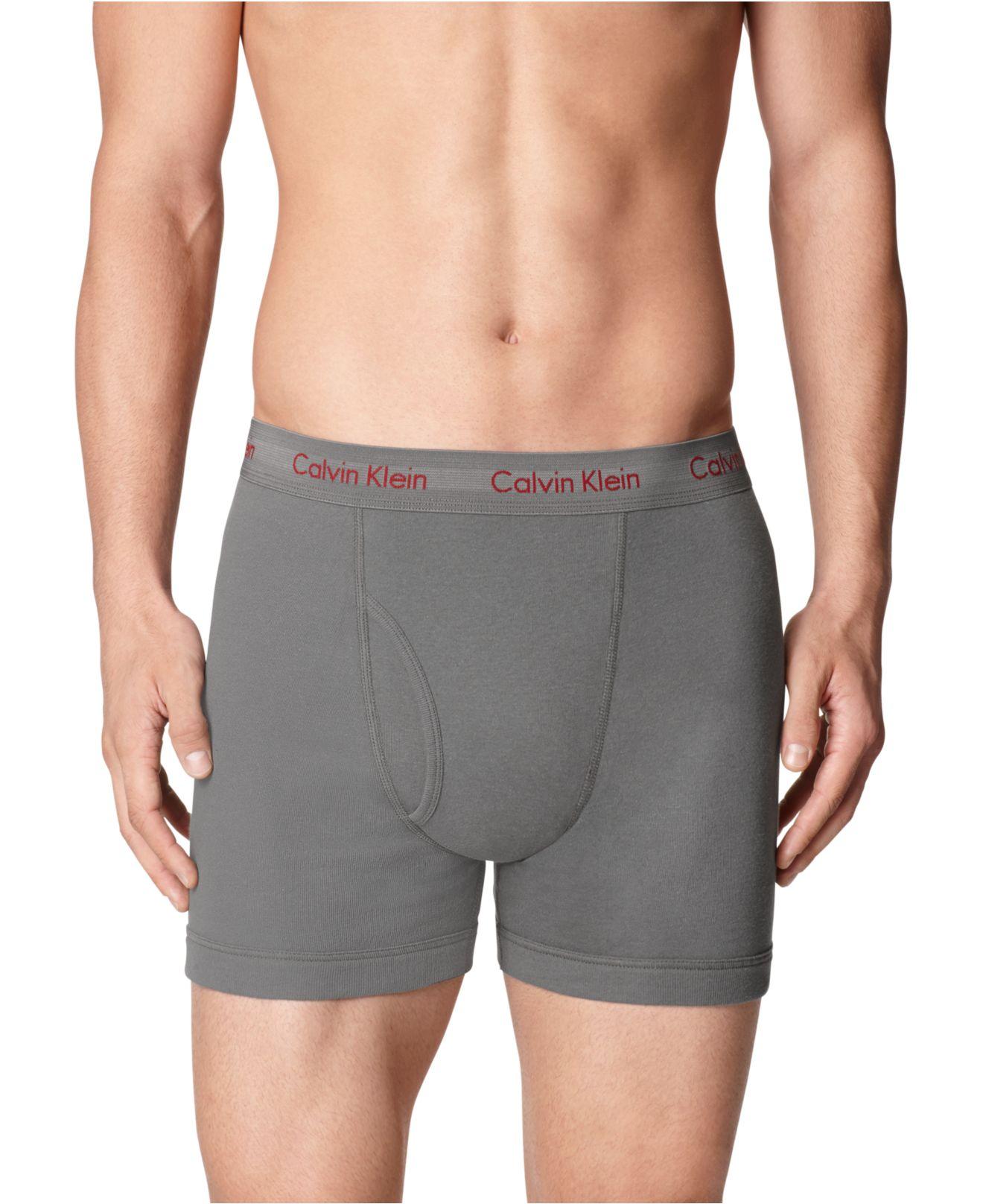 lyst calvin klein men 39 s boxer briefs 3 1 pack a macy 39 s exclusive for men. Black Bedroom Furniture Sets. Home Design Ideas