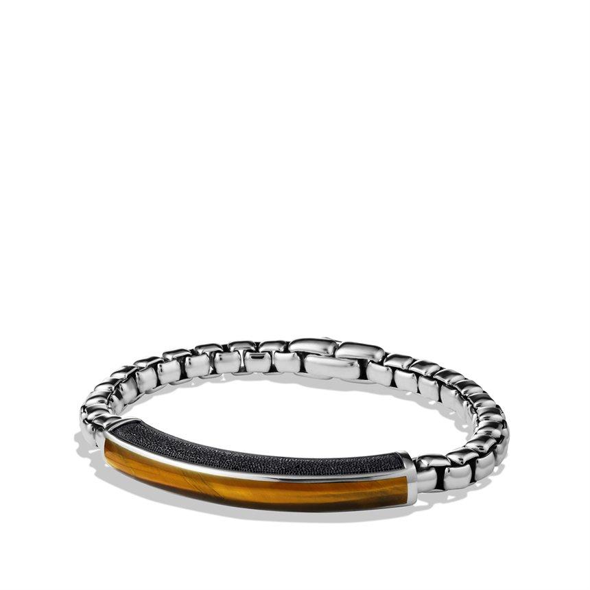 Lyst David Yurman Exotic Stone Id Bracelet With Tigers