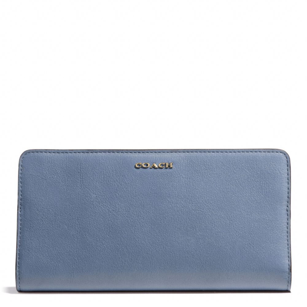 1f02104e1eb9 ... usa lyst coach madison skinny wallet in leather in blue 0ab9b 33db3