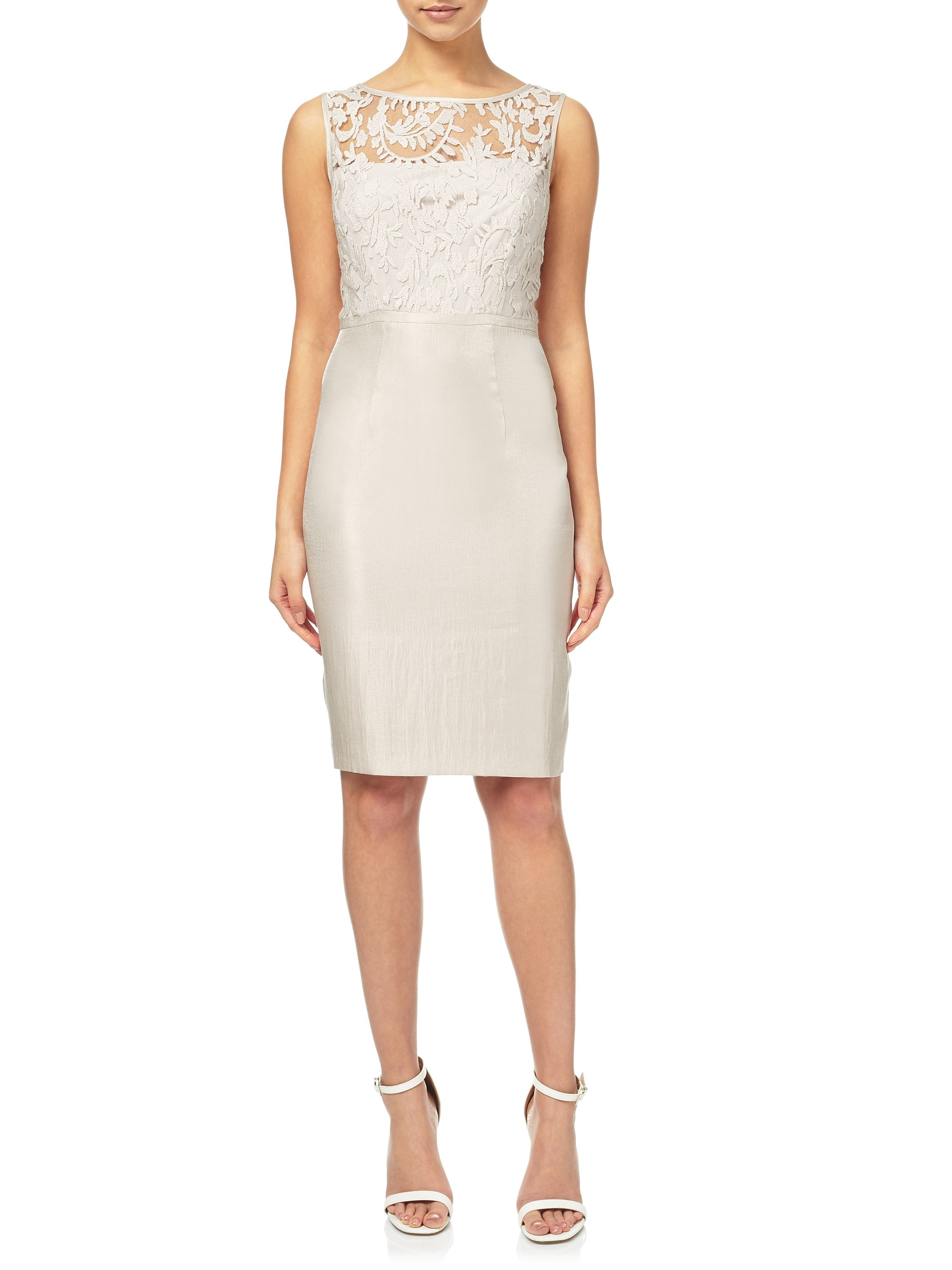 Adrianna papell Cocktail Dress And Duster Coat Set in White | Lyst