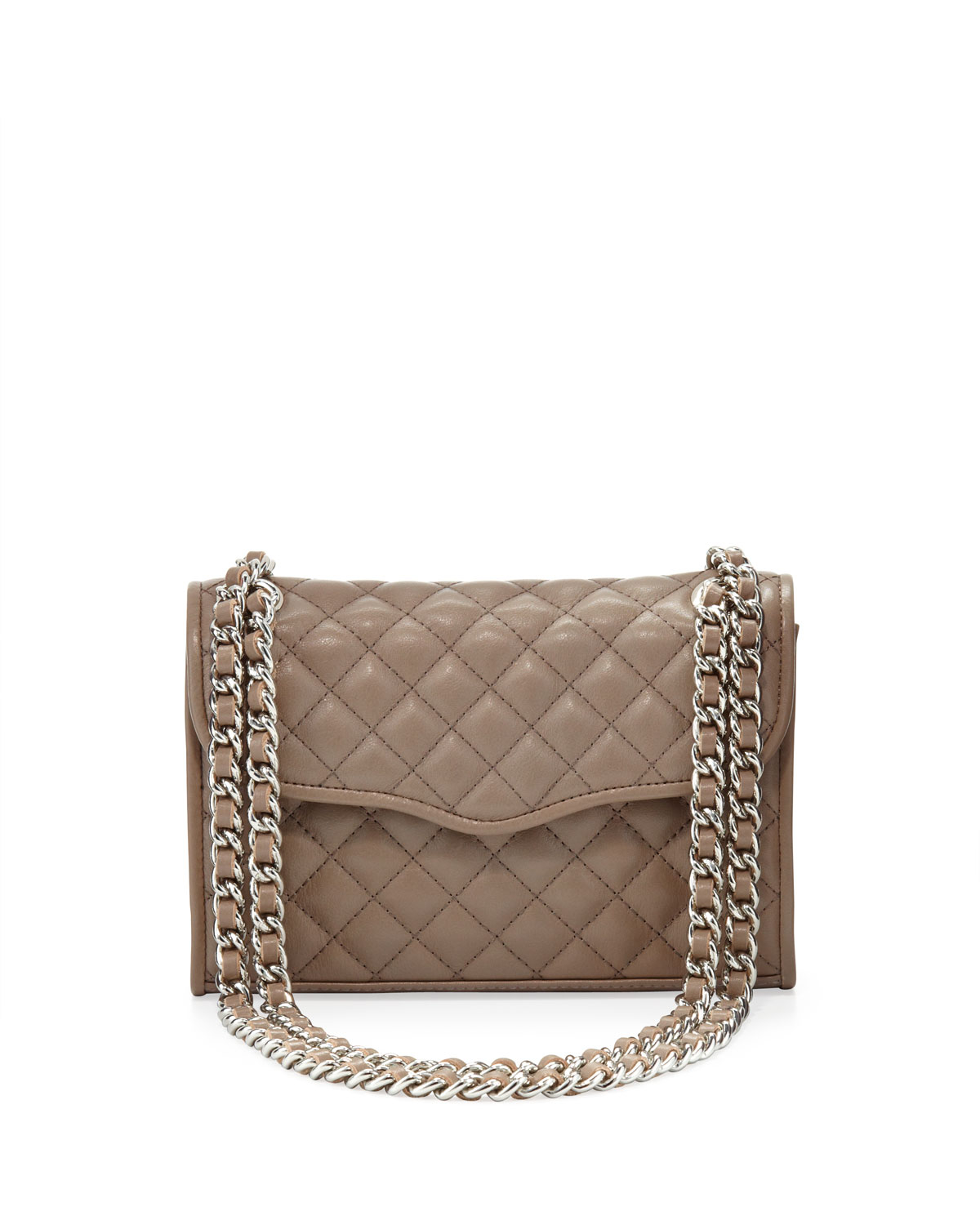 Rebecca minkoff Affair Quilted Mini Shoulder Bag Taupe in Brown | Lyst
