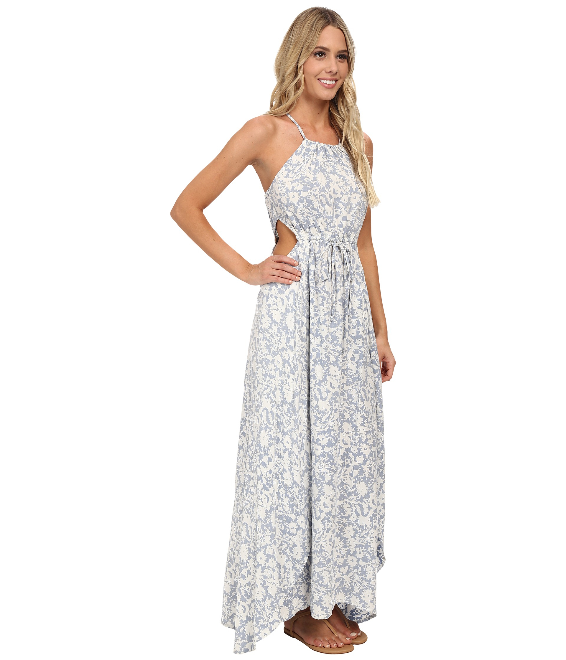 Billabong Sounds Of The Sea Maxi Dress in Blue - Lyst