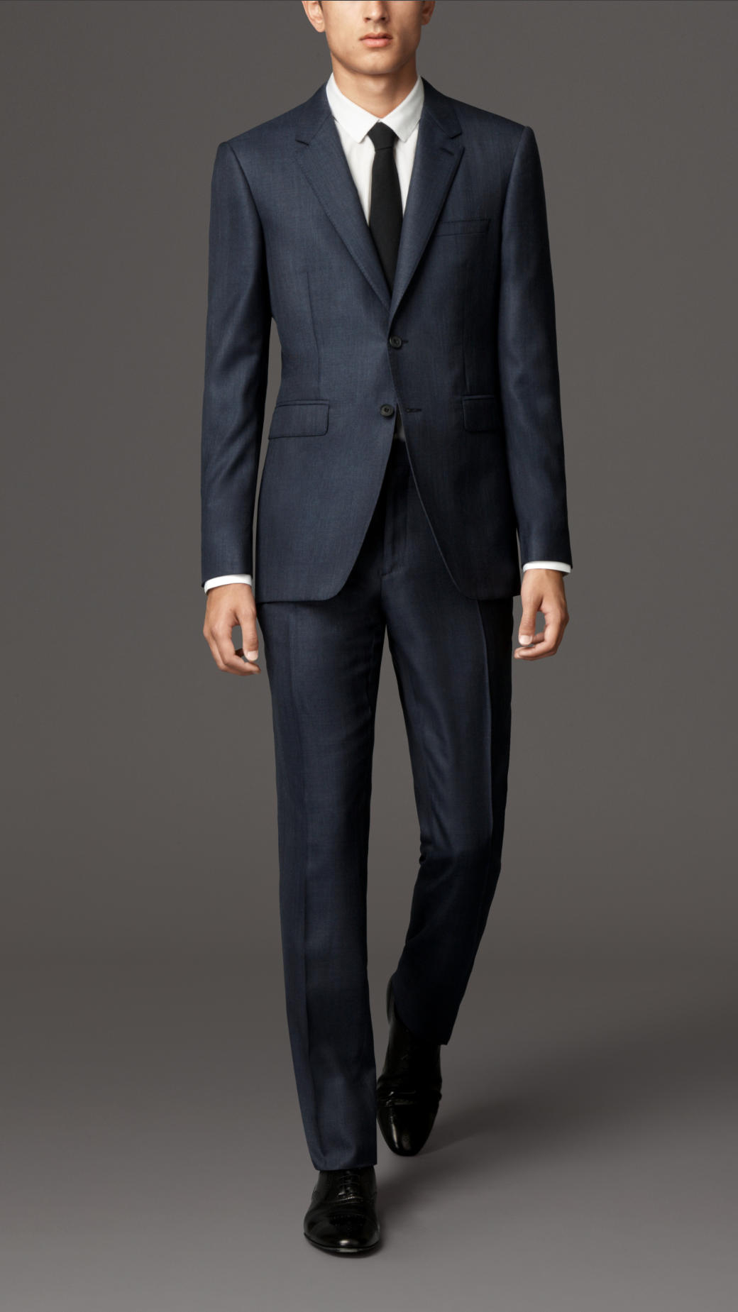 Burberry Modern Fit Wool Silk Suit in Blue for Men | Lyst