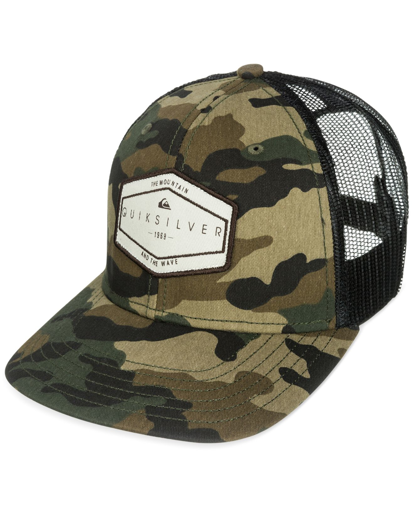 600d5ae221a inexpensive quiksilver camo trucker hat 40b72 ac463