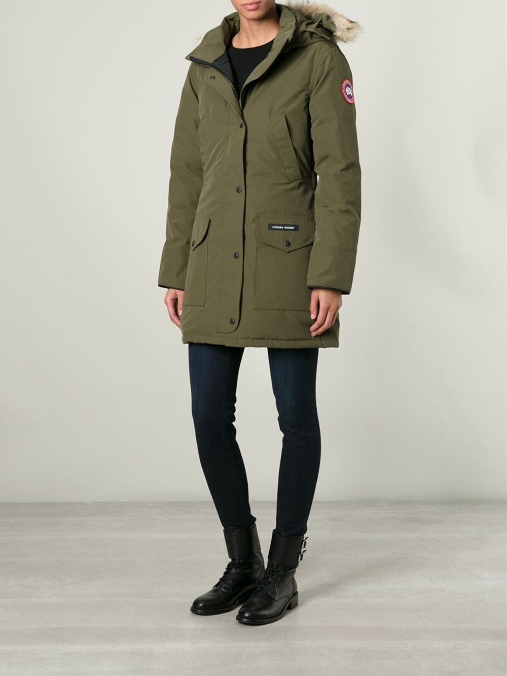 Canada Goose parka outlet discounts - Canada goose 'trillium' Parka in Green | Lyst