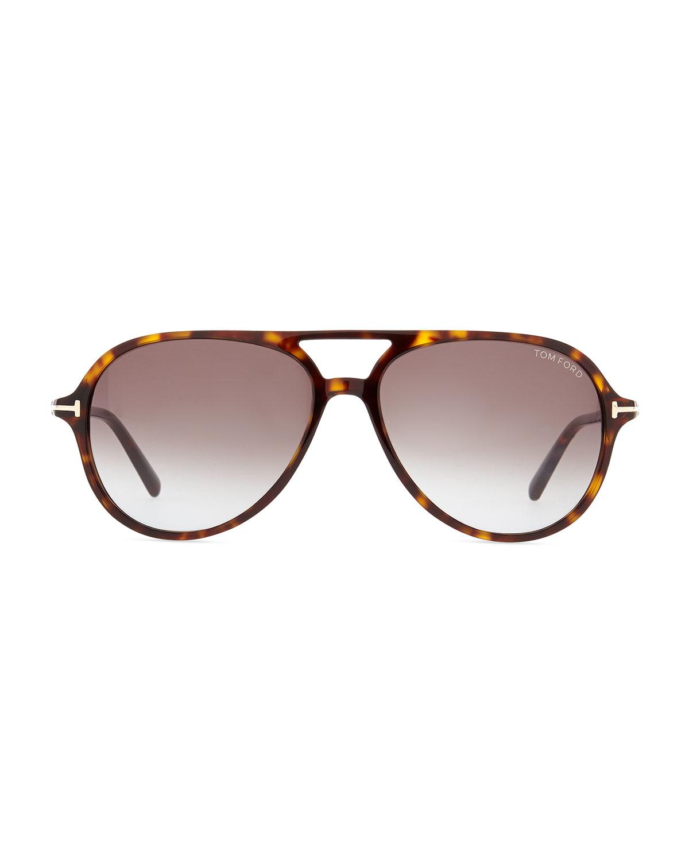 ef31655139c Tom ford Jared Acetate Aviator Sunglasses Tortoise in Brown