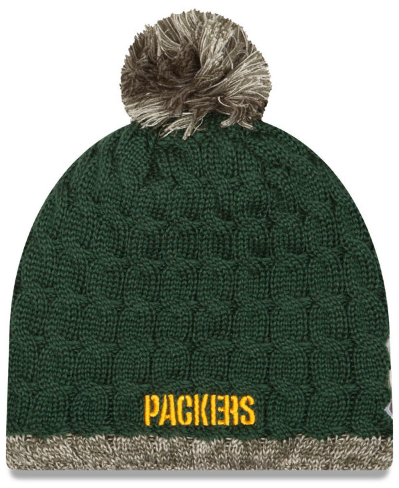 ab9bcfed662 Lyst - Ktz Women s Green Bay Packers Salute To Service Knit Hat in Green