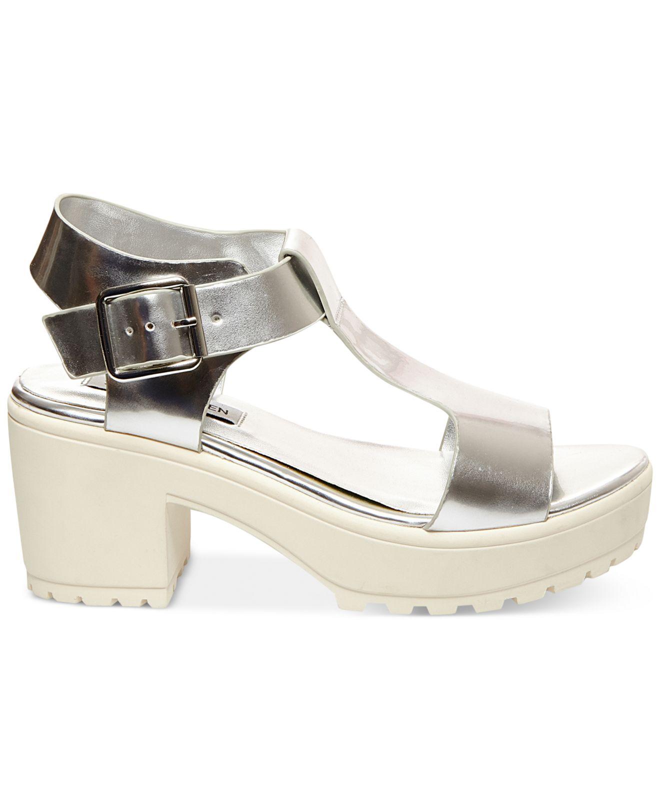 02b9afac2ab Lyst Heel In Platform Stefano Madden Women s Sandals Steve Block rqSrxwOX