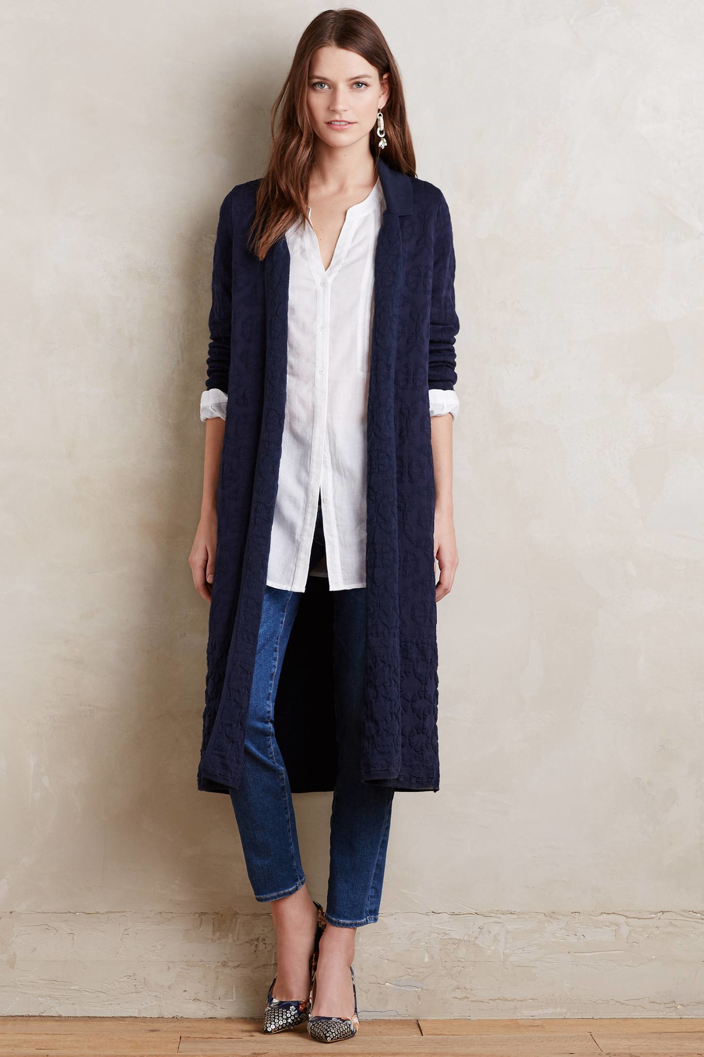 Moth Auvergne Duster in Blue | Lyst