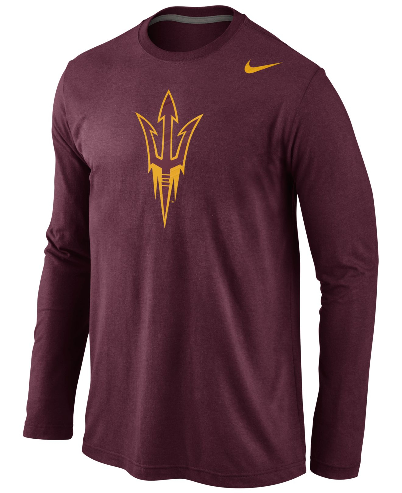 Lyst Nike Mens Long Sleeve Arizona State Sun Devils Logo