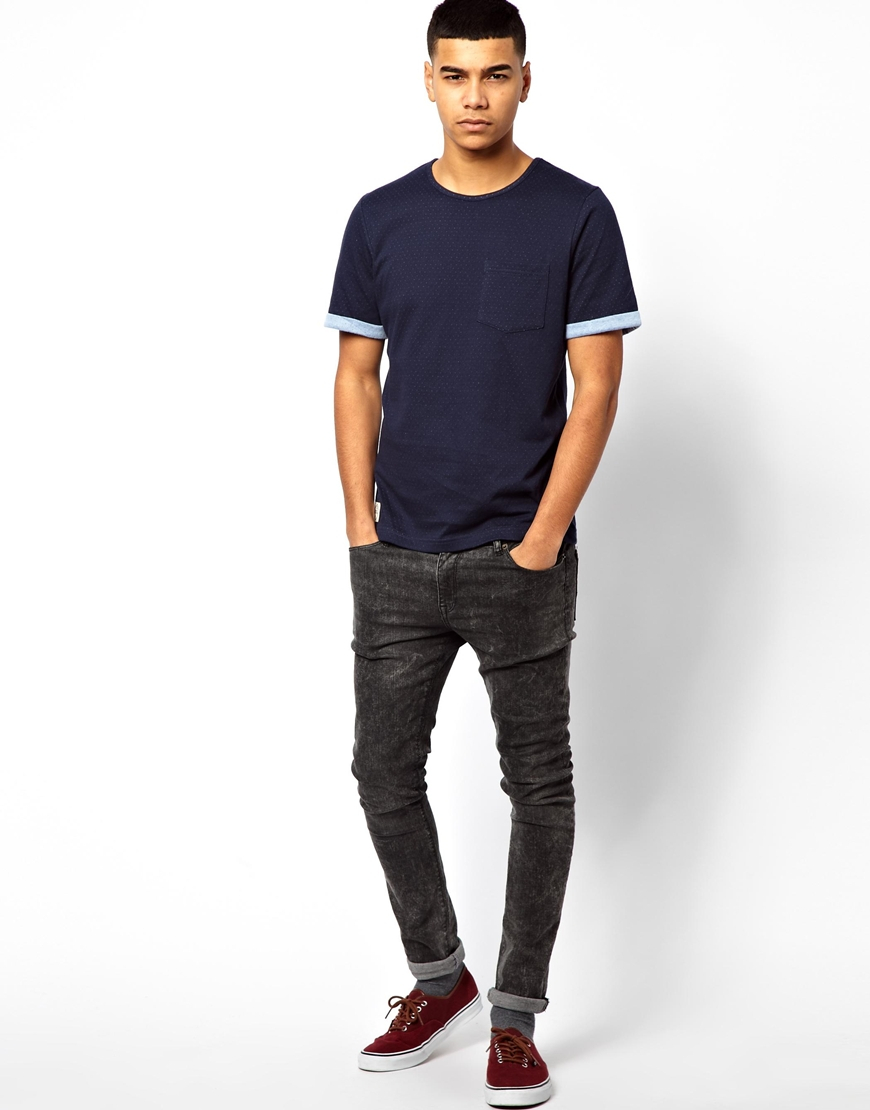 Native Youth Double Layer Tshirt With Pin Tuck Pocket In