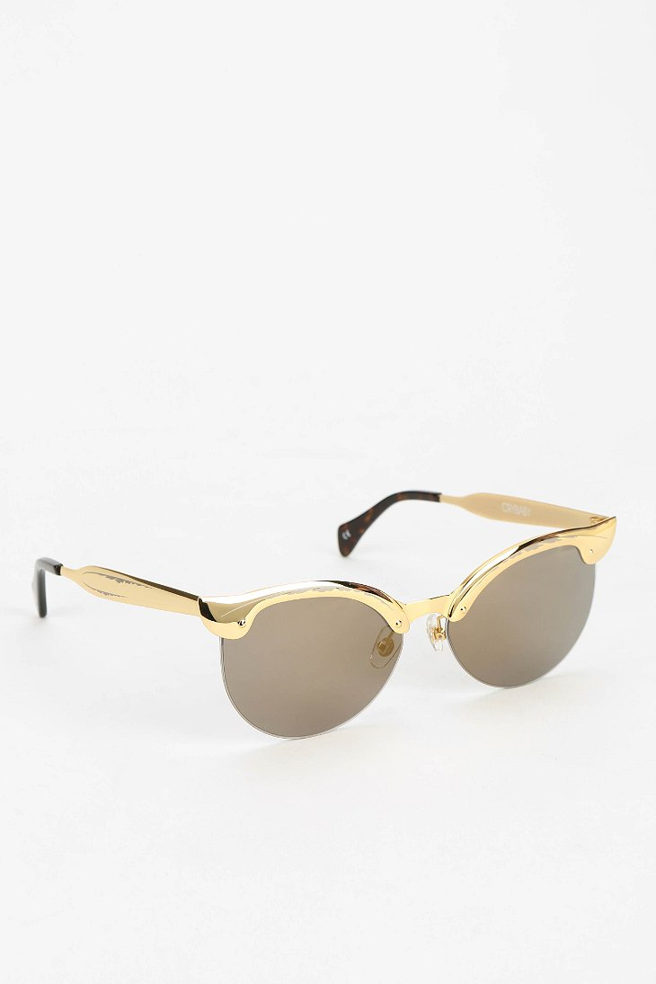 b932f720fb Lyst - Wildfox Crybaby Cat-Eye Sunglasses in Metallic