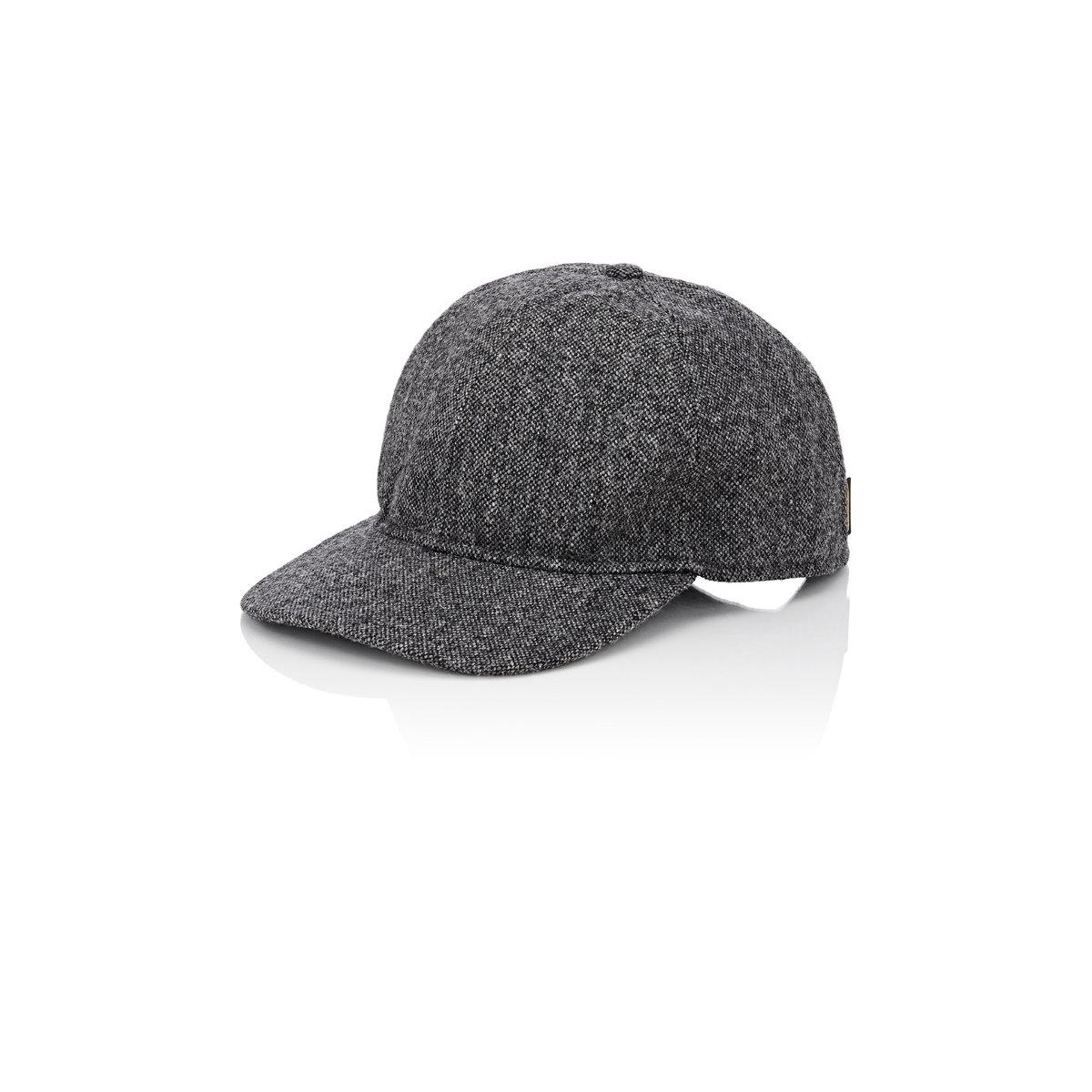 3ff703bb835 Lyst - Borsalino Men s Tweed Baseball Cap in Gray for Men