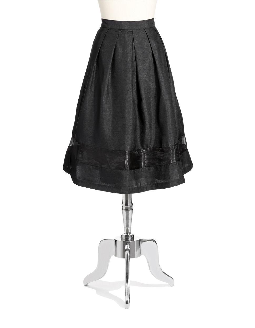 chetta b pleated a line skirt in black lyst