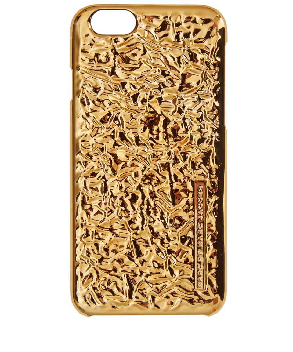 Marc By Marc Jacobs Gold-tone Metallic Iphone 6 Foil Case in ... 38e534ee4813