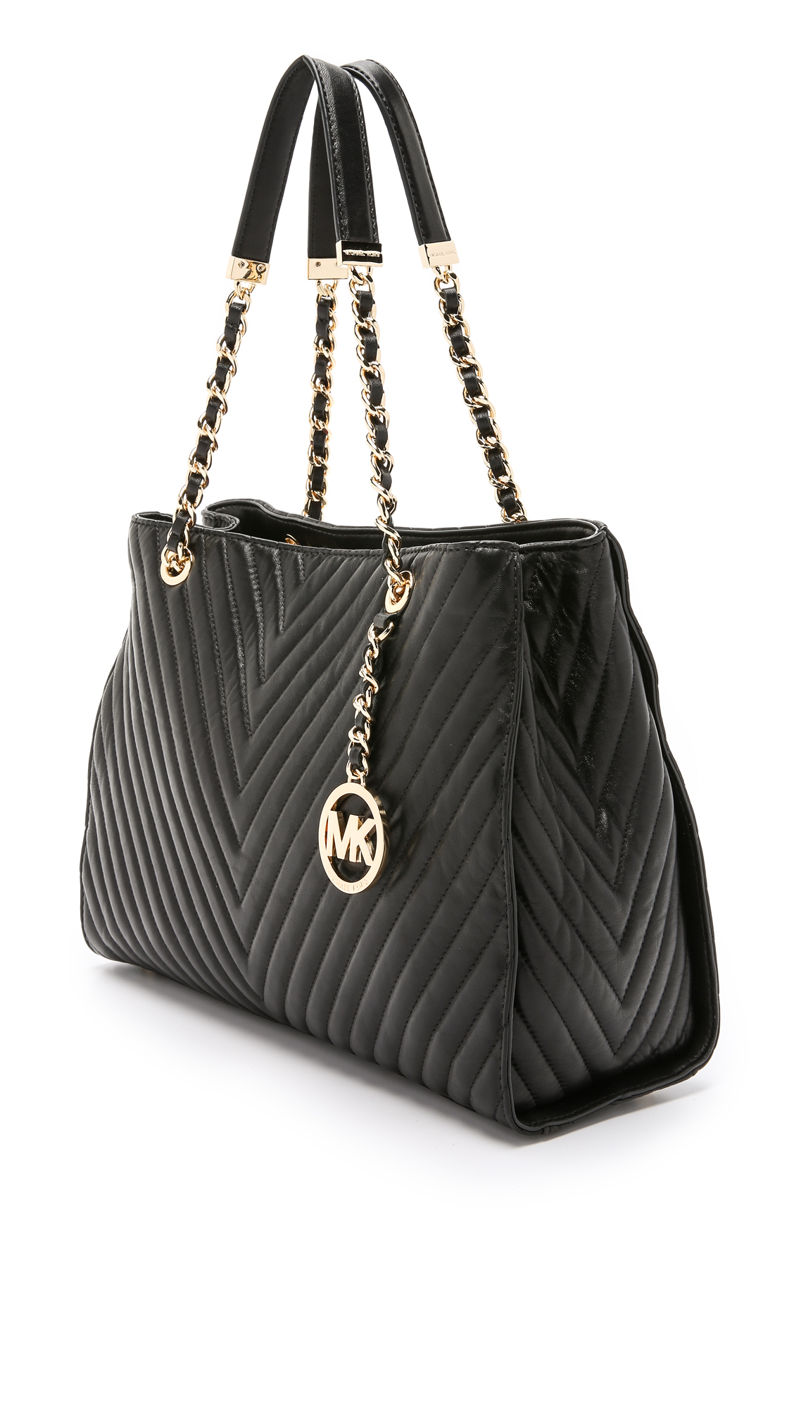 Michael michael kors Susannah Quilted Large Tote - Black in Black ...